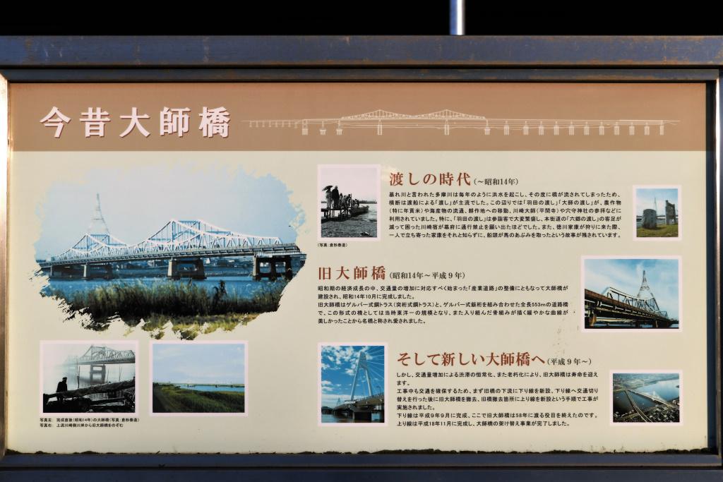 新旧大師橋 説明板