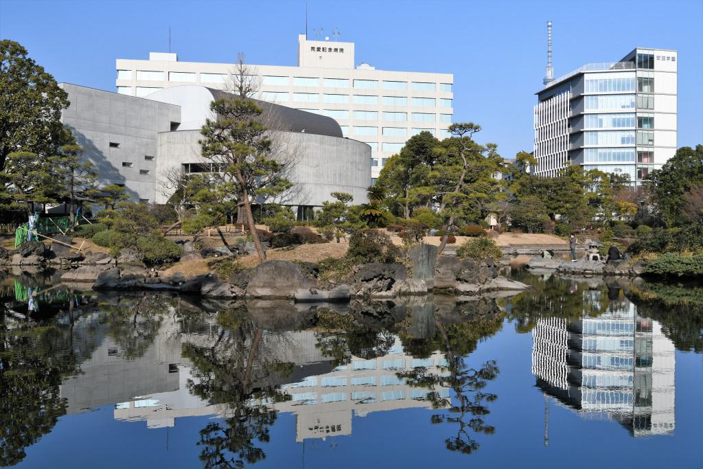 刀剣博物館 と 同愛記念病院 と 安田学園