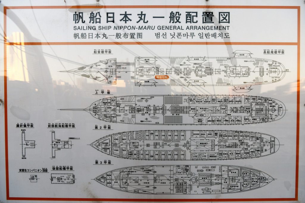 日本丸 配置図