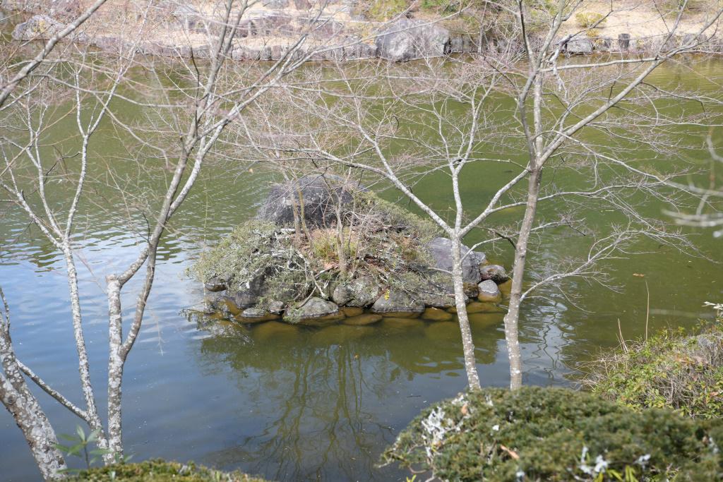 成田山公園内の池