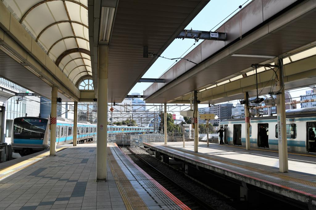 JR桜木町駅 関内寄りホーム端
