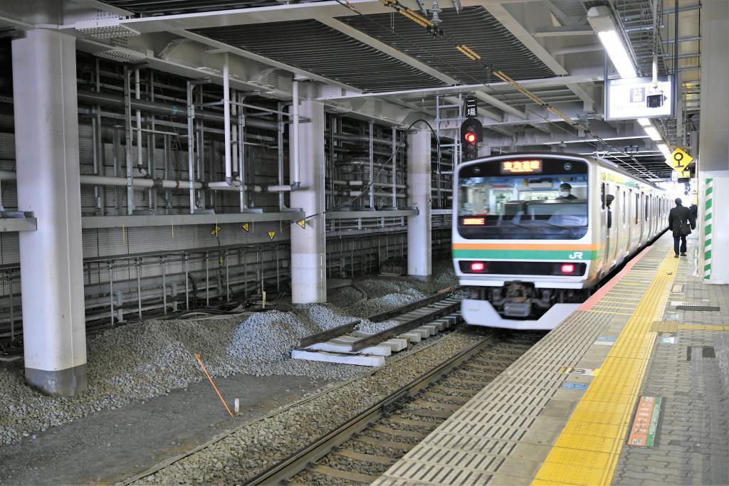 東海道線ホーム 拡張工事 1