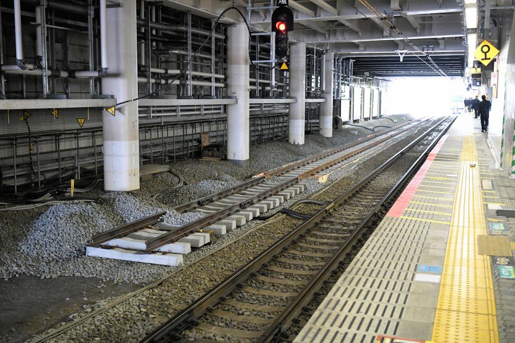 東海道線ホーム 拡張工事 2