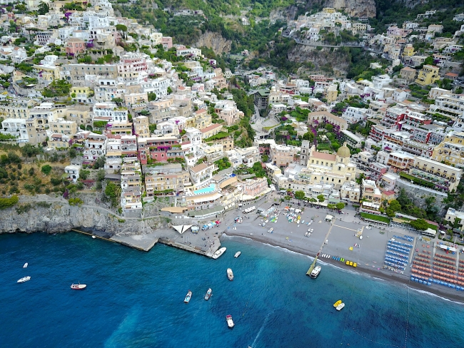 Positano from the drone