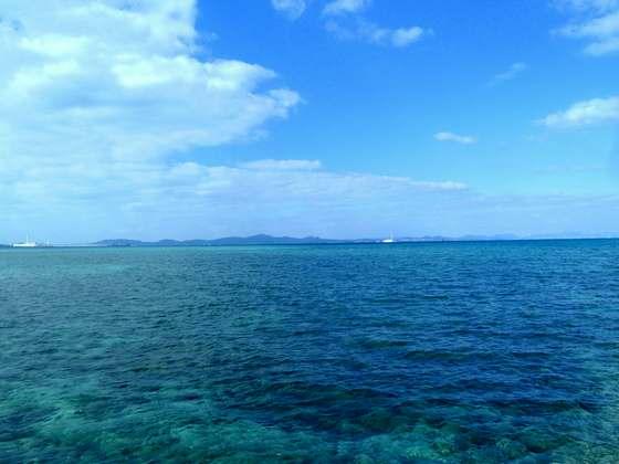 海中道路からの絶景