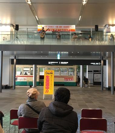 駅ナカでライブ中20180120