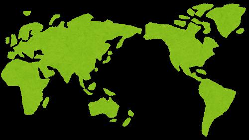 世界地図のイラスト