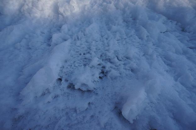 シャリシャリした雪