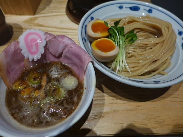 サバ6製麺所 本店@02サバ濃厚鶏つけ麺+サバ寿司 1