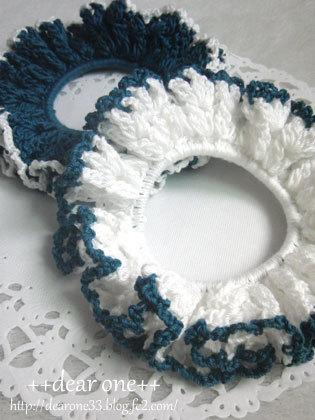 レース編みのシュシュ180115_4