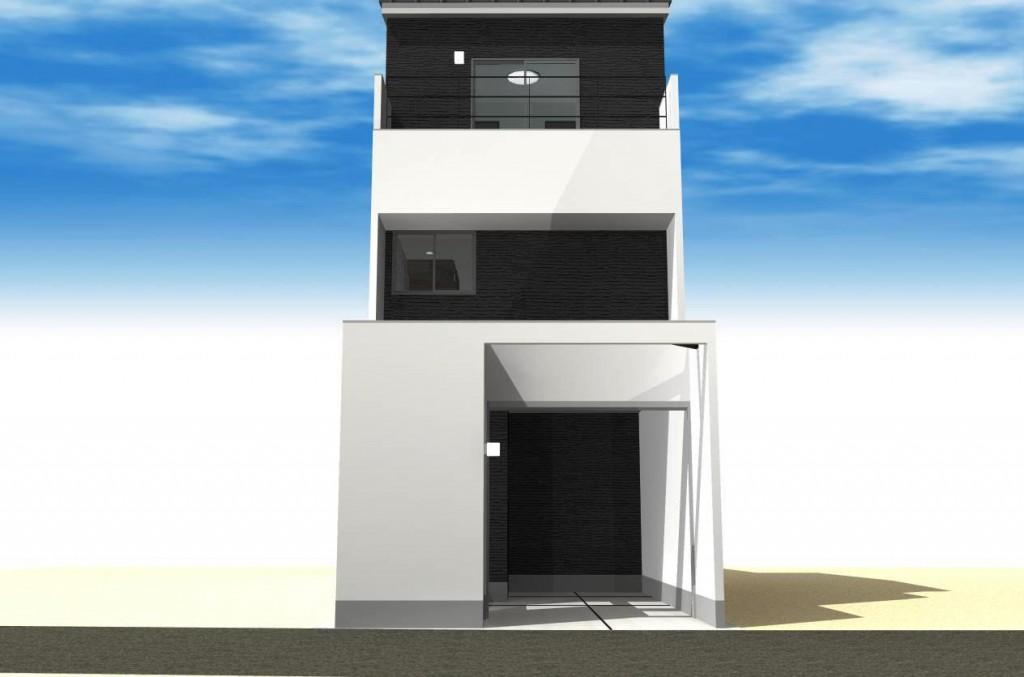 愛知県名古屋市 木造3階建注文住宅プラン!デザインファーストのご提案!