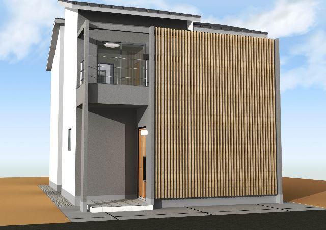 京都市山科区 木造2階建注文住宅プラン!デザインファーストのご提案!