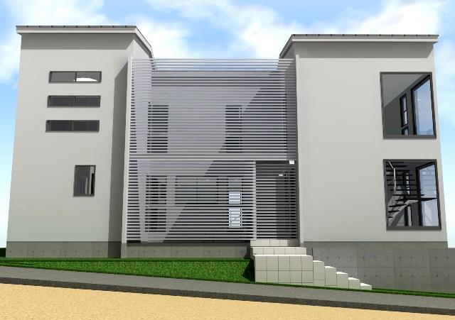 滋賀県大津市 地下駐車場のある二世帯注文住宅プラン!デザインファーストのご提案!