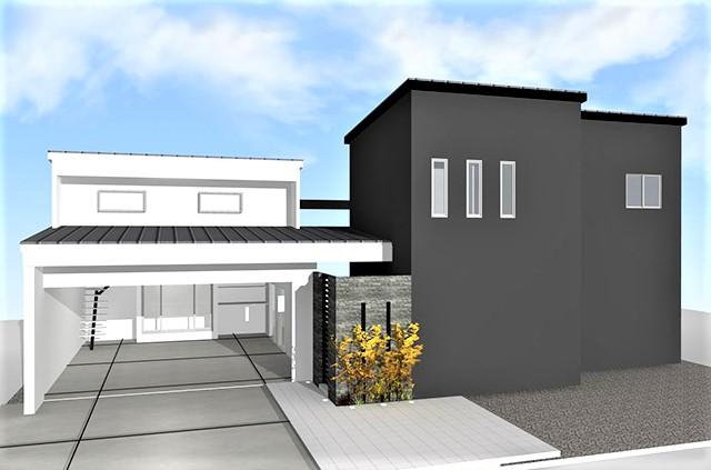 注文住宅 モダン住宅 滋賀県愛知郡 ガレージハウス