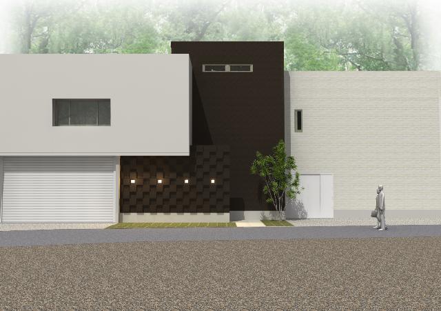 滋賀県大津市 ペットと共に暮すシンプルモダンな注文住宅プラン!デザインファーストのご提案!