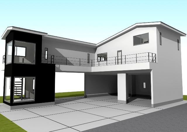 京都市北区 ガレージハウス注文住宅プラン!デザインファーストのご提案!