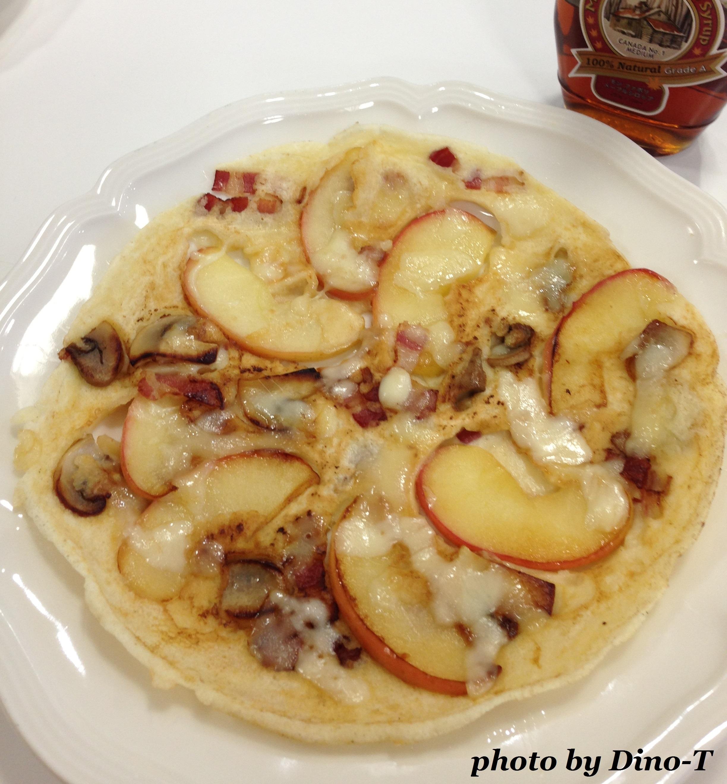 りんごのデザートピザ1