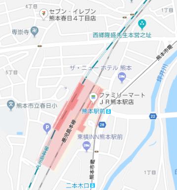 コンビニ熊本駅周辺2018年1月11日