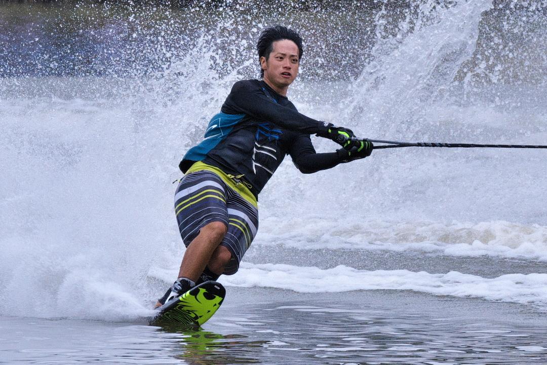 長友啓選手(立4)2015JCCW M's Slalom 2位