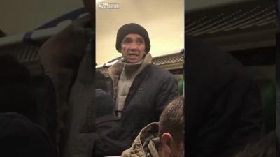 【スカっとワールド!】満員電車で騒いでいる男一発!