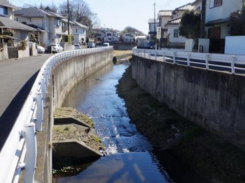 相陽橋より鳩川下流を望む