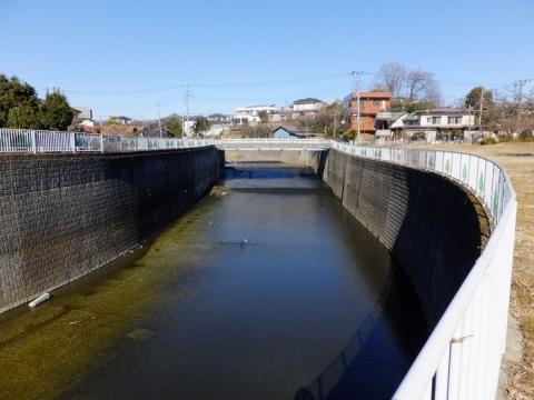 鳩川と大盛橋