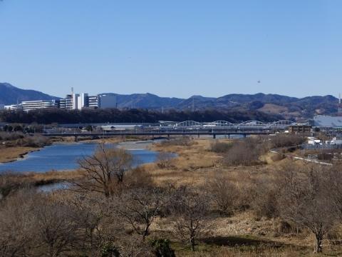 三段の滝展望広場より相模川を望む