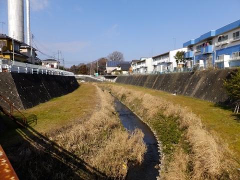 水道橋より鳩川上流を望む