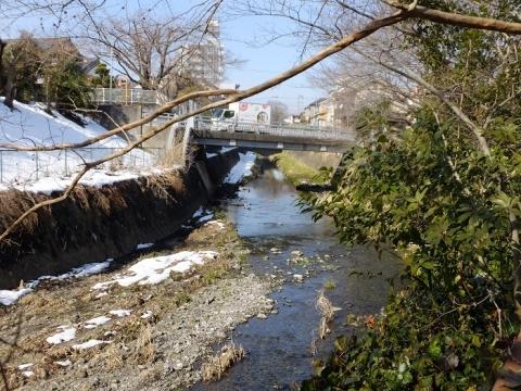 川辺公園から見た鳩川