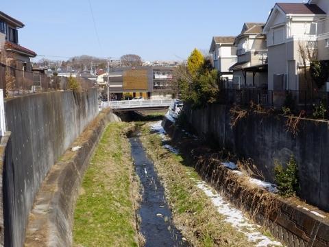 上三谷橋下流の鳩川