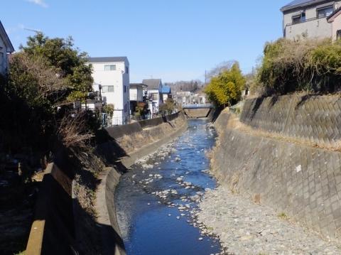 瑞穂橋より姥川上流を望む