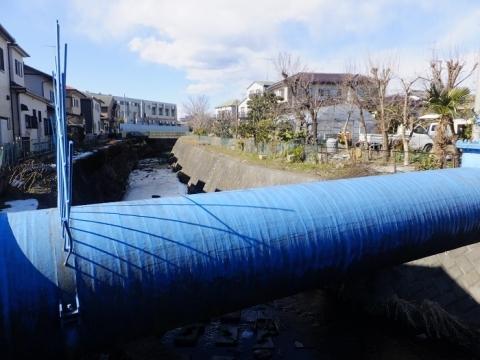 藤橋の神奈川県営水道水管橋
