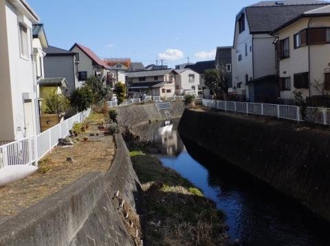 堰の神橋より姥川下流を望む