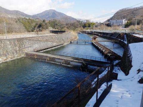八ツ沢発電所・取水口沈砂池