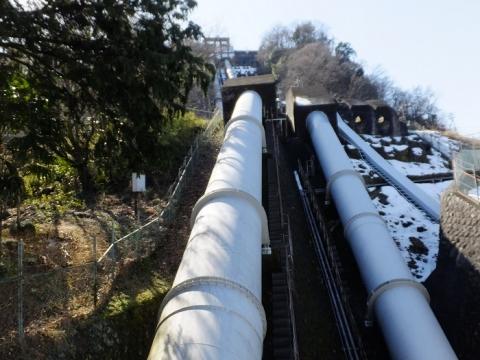 駒橋発電所水圧鉄管