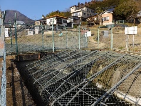八ツ沢発電所導水路を跨ぐ水路橋