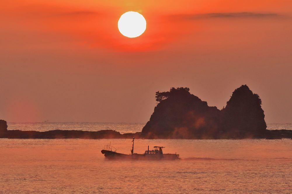 田原荒船海岸の海霧