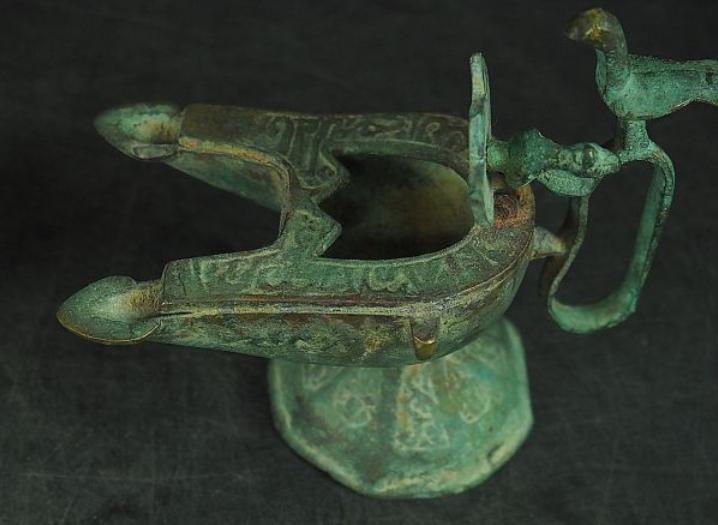 zzz sedou 漢時代 青銅器 酒器 2点 唐物発掘品2-1 w20 h12cm