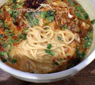 喜界島担々麺 喜界島担々麺 100%(麺のアップ)