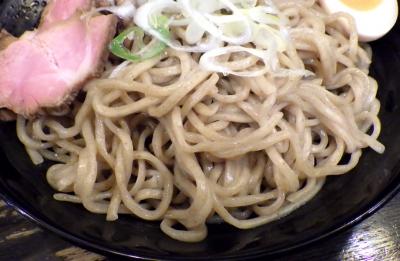 綿麺 14周年! つけ麺 大+スープ割り(麺のアップ)