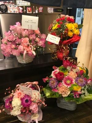 綿麺 14周年のお花