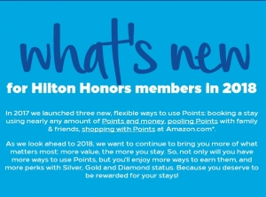 whats new Hilton Honors 2018 ①