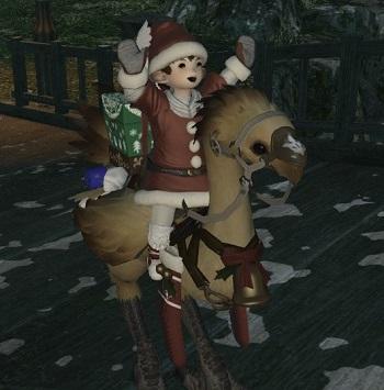 FF14 ララフェル サンタ クリスマス