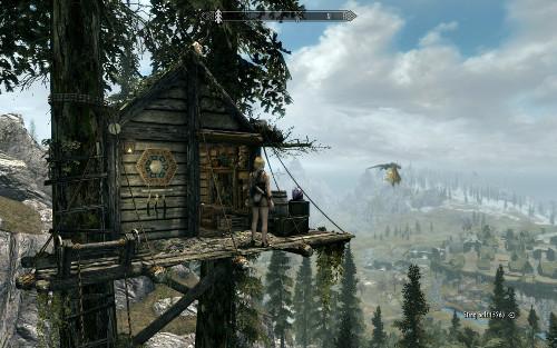 山小屋とドラゴン