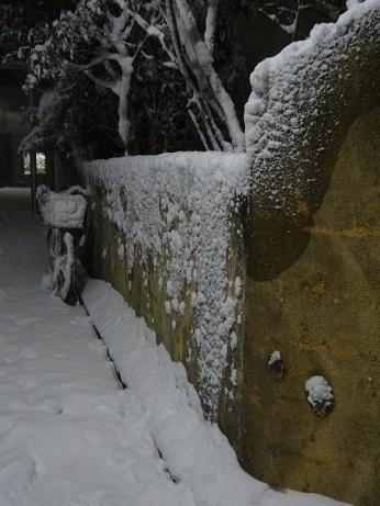 自転車積雪ゆうど前