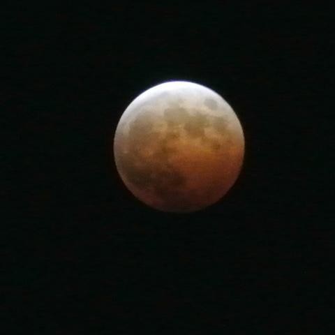 2015年4月4日の「皆既月食」