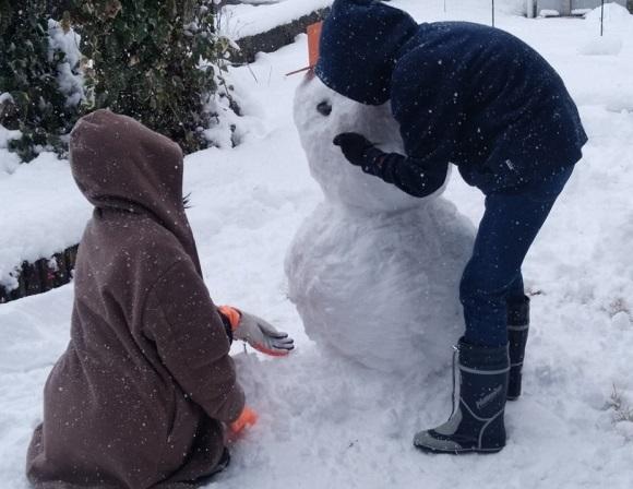 2017.12雪だるま作り
