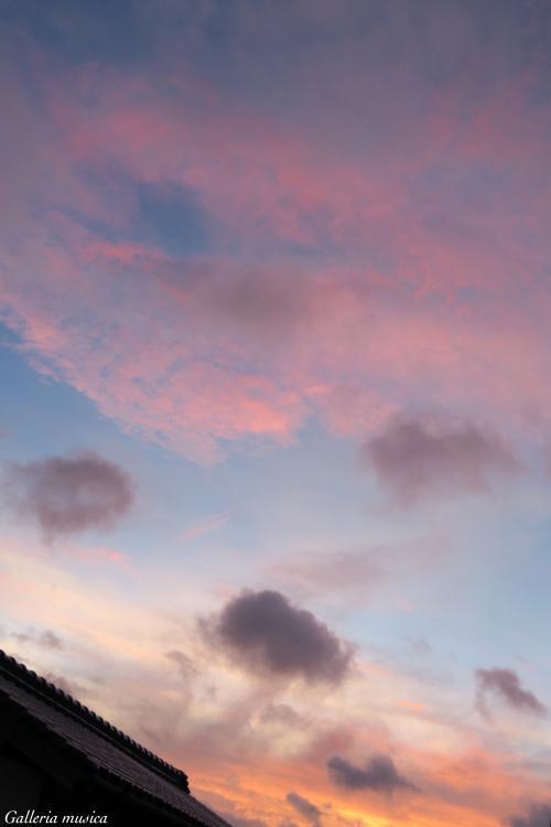 台風後の夕焼け。5