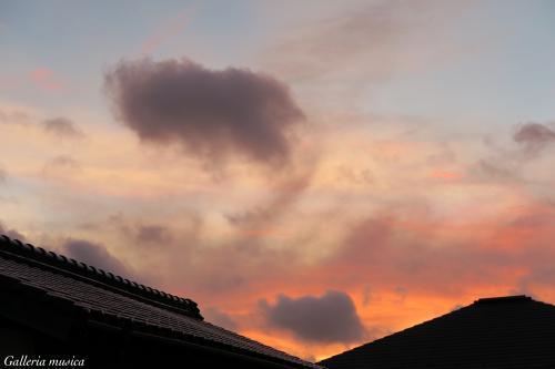 台風後の夕焼け。6