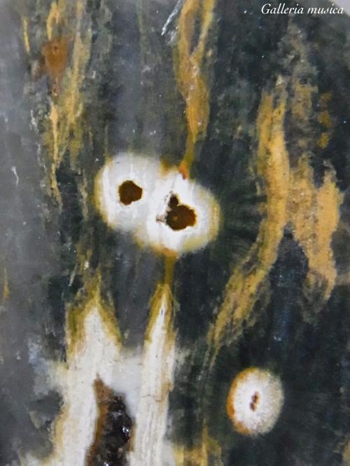 中世の天体図のような石。4